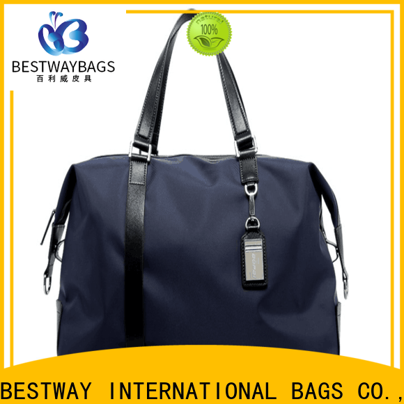 Bestway sport popular nylon bag with leather straps Supply for sport