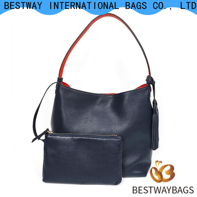 Bestway High-quality red leather bag factory for school