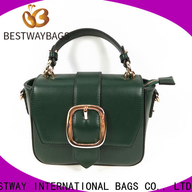 Bestway cross pu genuine leather factory for girl