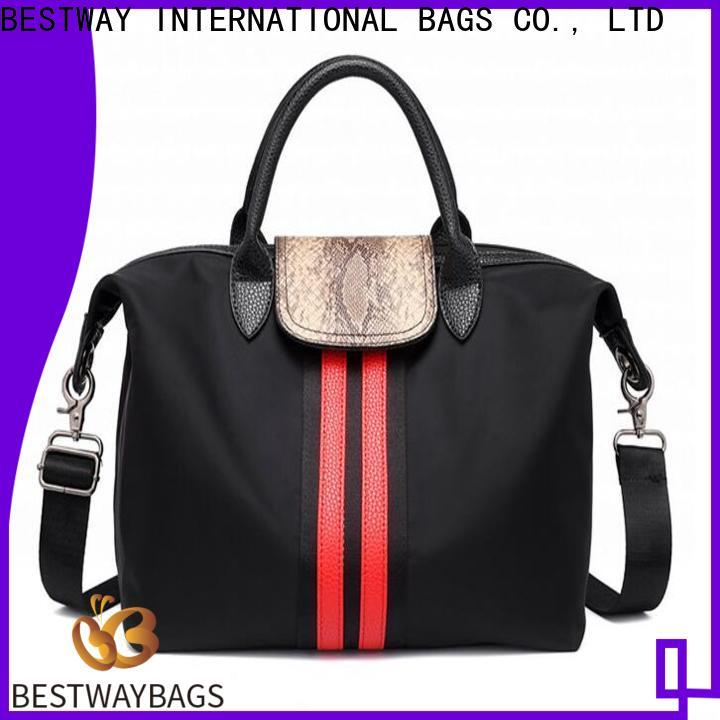New nylon tote with leather handles handle supplier for sport