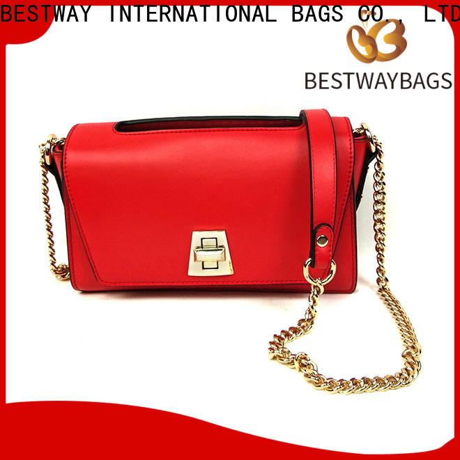fashion pebbled leather rivets Chinese for lady