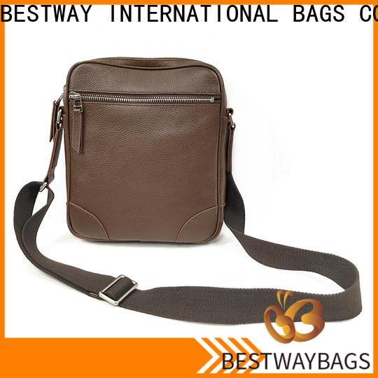 Bestway side side leather bag manufacturers for work