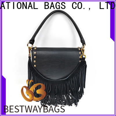 Bestway designer black leather bags online Supply for daily life
