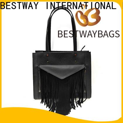Bestway side black leather messenger bag online for school