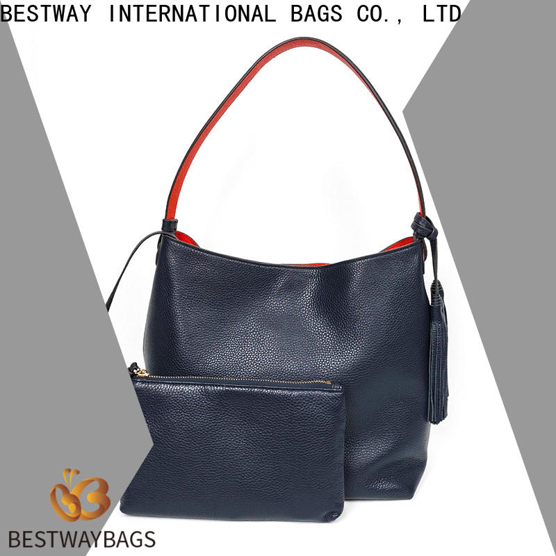 Bestway Latest leather purse with initials factory for work