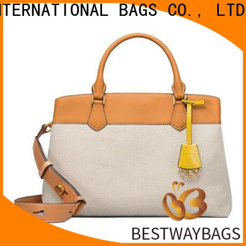 Bestway Wholesale canvas leather bag factory for vacation