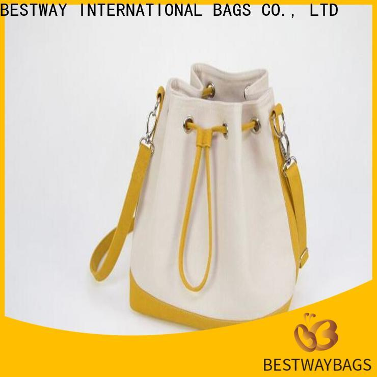 Bestway customized big canvas tote bags wholesale for travel