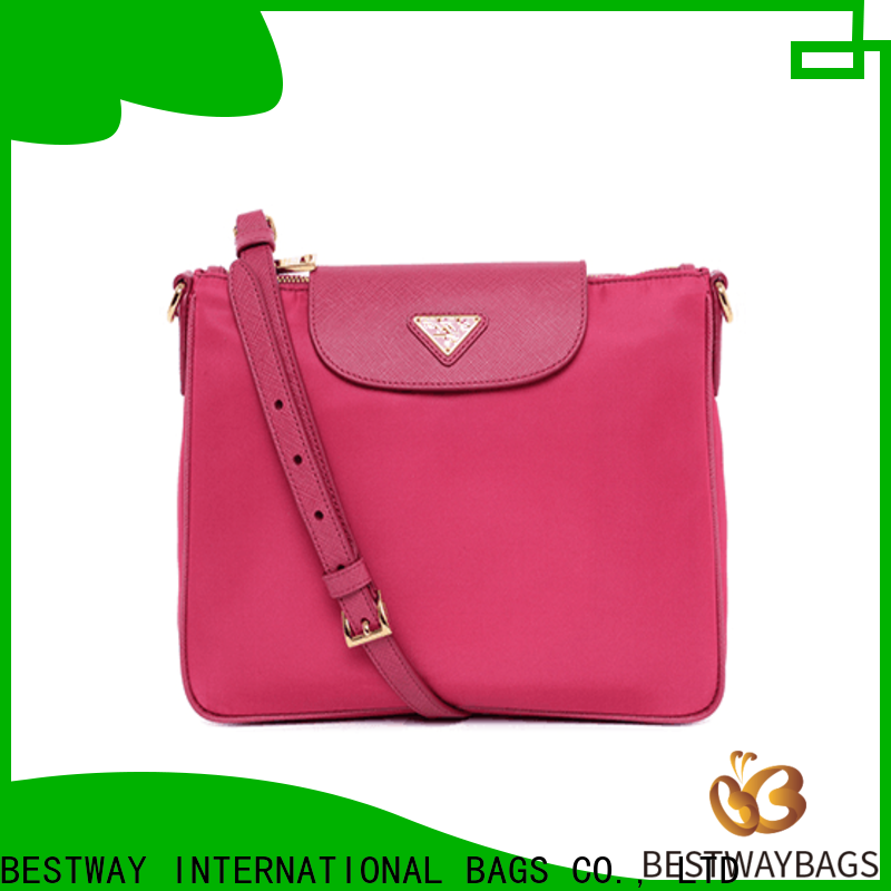 Bestway sport nylon purse with leather straps wildly for gym