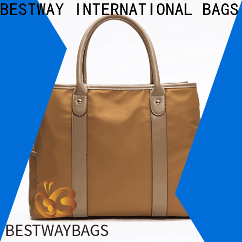 Bestway purses nylon leather tote Supply for bech