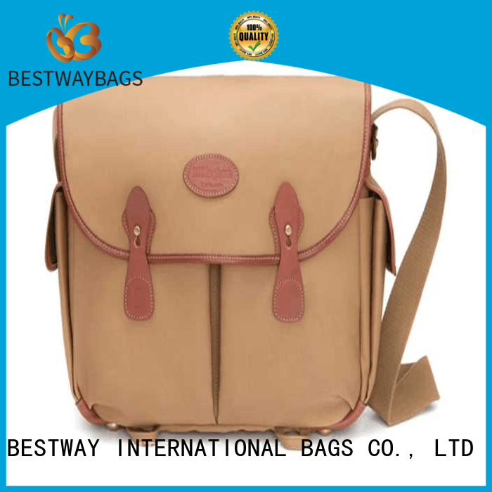 Bestway white striped canvas tote bag factory for relax