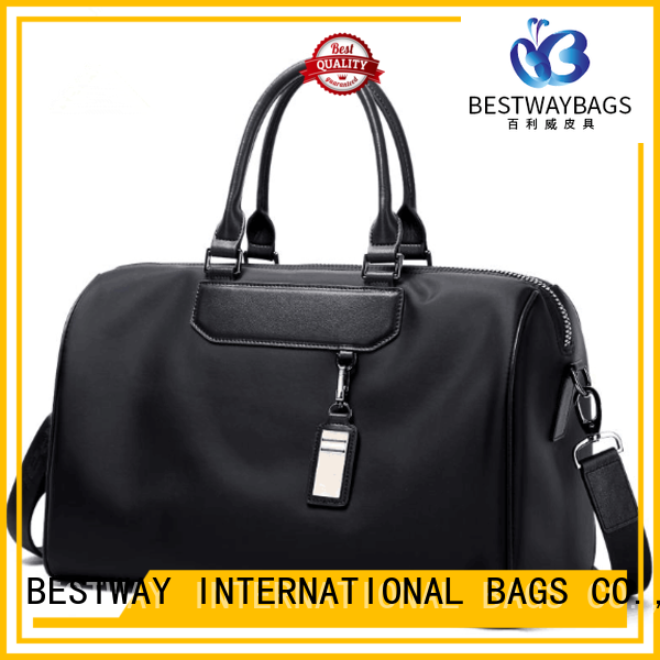 Guangzhou Manufacturers New Design Nylon Oversized Sport Sling Bag With Leather Handle