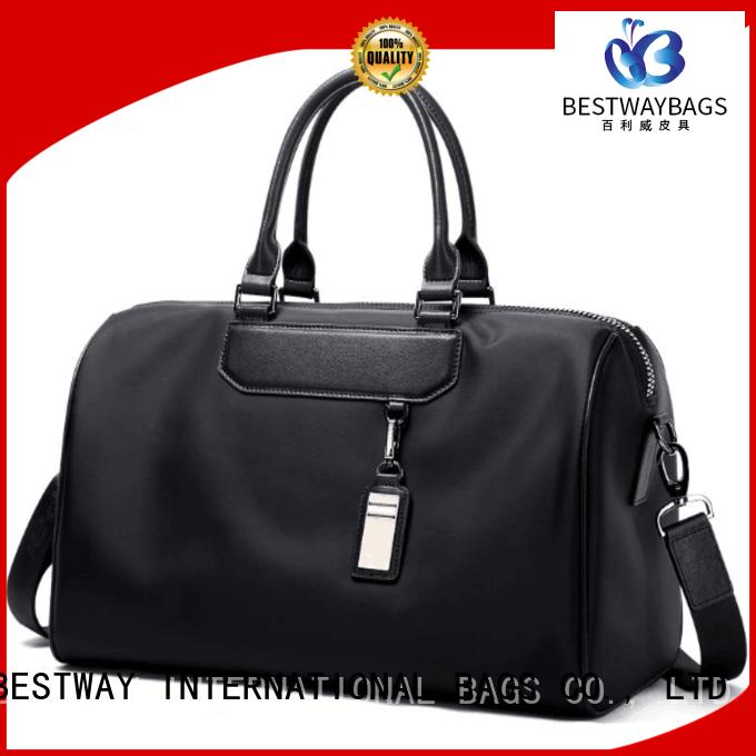 Bestway light nylon handbags with leather handles elegant for sport