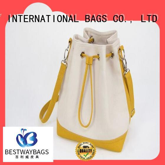 Bestway tote canvas leather bag factory for vacation