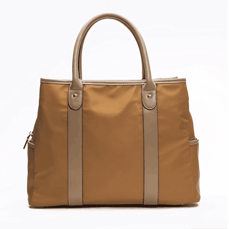 Fashion Elegant Shop Nylon Bag With Leather Handle, Work Handbags and Purses For Women