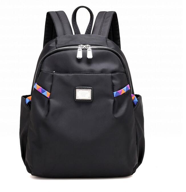 Customized Factory Black Stylish Nylon Foldable Gym Sport Lightweight Backpack