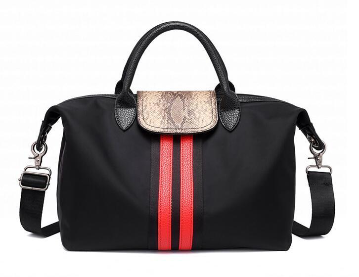 Big Foldable womens Shoulder Gym Bag Nylon Material Shopping Shoulder Bag