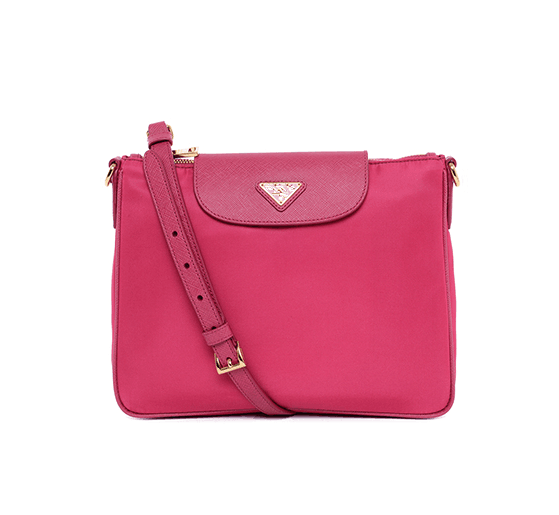 China Wholesale High Quality Nylon Cross Body Shop Shoulder Bag With Leather Strap And Cover