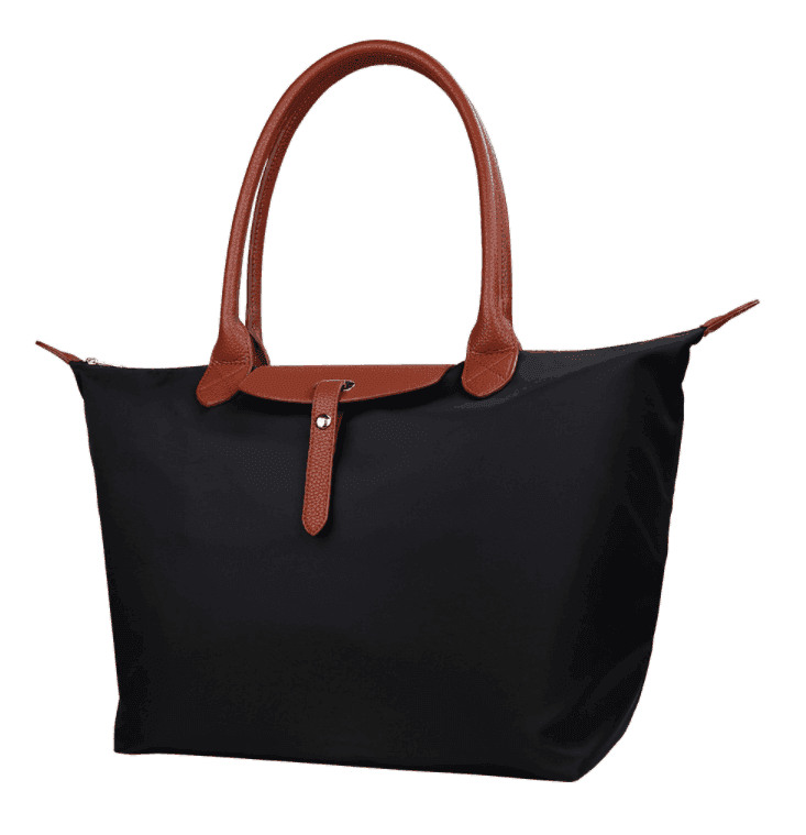Oxford Nylon Large Capacity Tote Bag With Leather Handle Beach Bag With Printed Logo