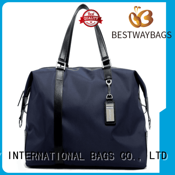 Bestway handle nylon tote with leather handles supplier for bech