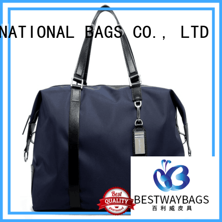 durable nylon tote with leather handles shop personalized for sport