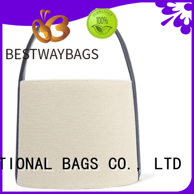 easy match canvas tote with leather handles famous wholesale for relax
