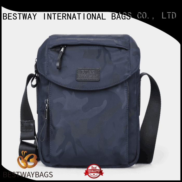 Bestway light nylon handbags with leather handles supplier for gym