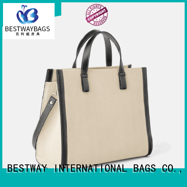 Bestway beautiful canvas handbags factory for shopping