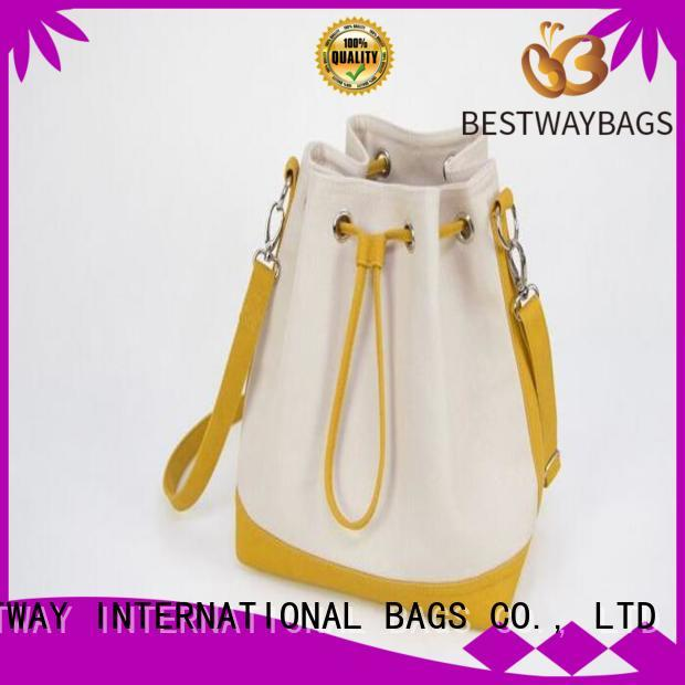 Bestway easy match canvas handbags factory for shopping