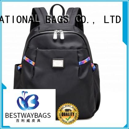 Bestway work nylon tote with leather handles supplier for sport