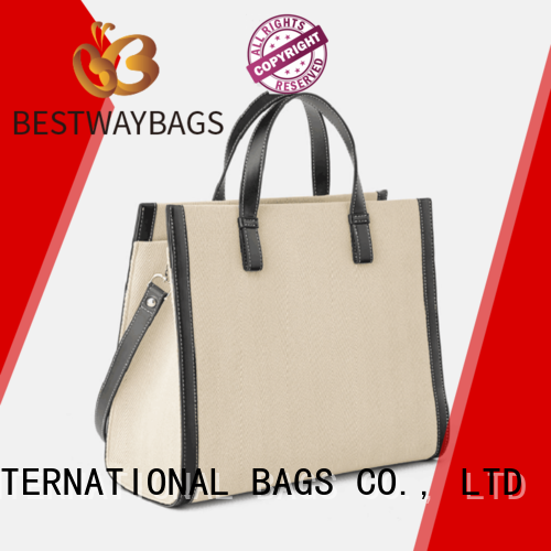 Bestway easy match personalized canvas tote bags factory for shopping