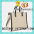 easy match women's canvas tote bags standard wholesale for vacation