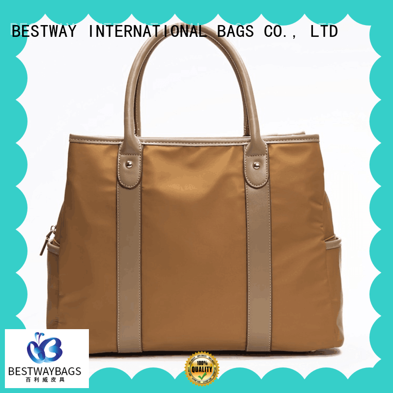 Bestway light nylon handbags with leather handles gym for gym