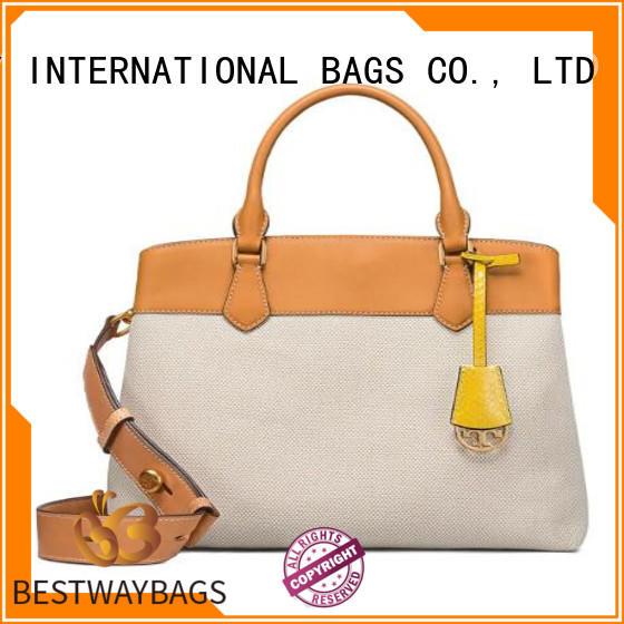 Bestway female ladies canvas bag wholesale for travel