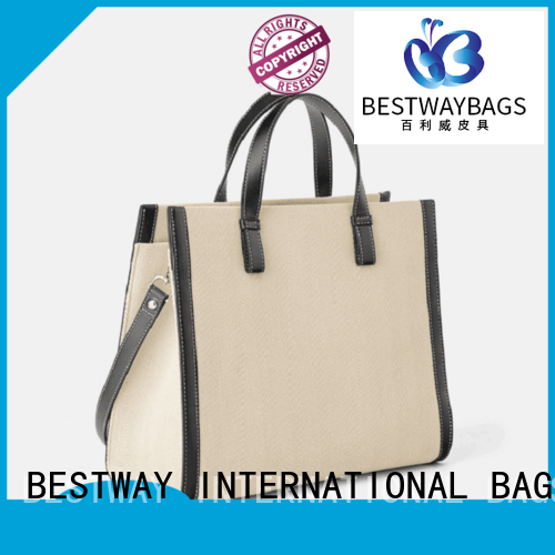 Bestway easy match canvas handbags factory for vacation