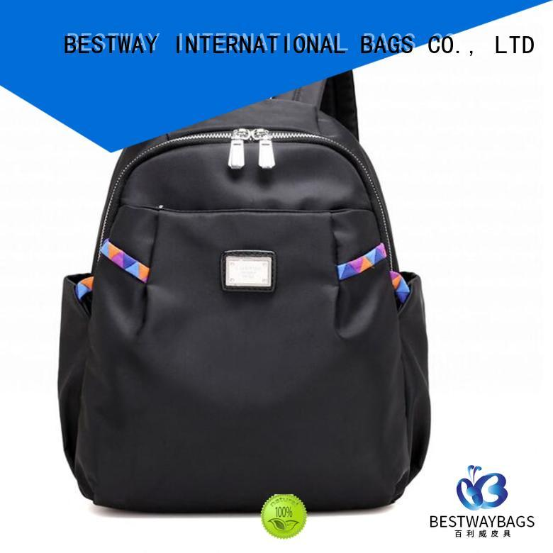 durable nylon tote with leather handles nylon personalized for swimming