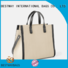 Bestway natural striped canvas tote bag factory for vacation