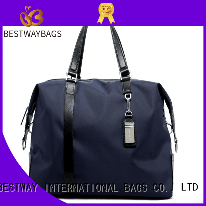 Bestway handbags nylon tote with leather handles on sale for sport