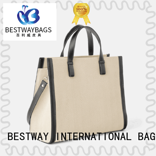 Bestway branded canvas bag personalized for vacation