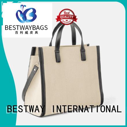 Bestway shoulder canvas tote shopper bag factory for vacation