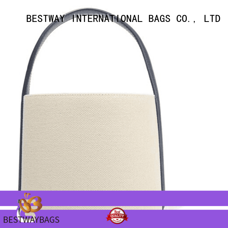 Bestway branded canvas handbags personalized for vacation