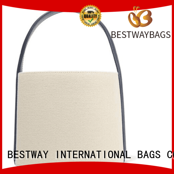 striped canvas tote bag customized for vacation Bestway